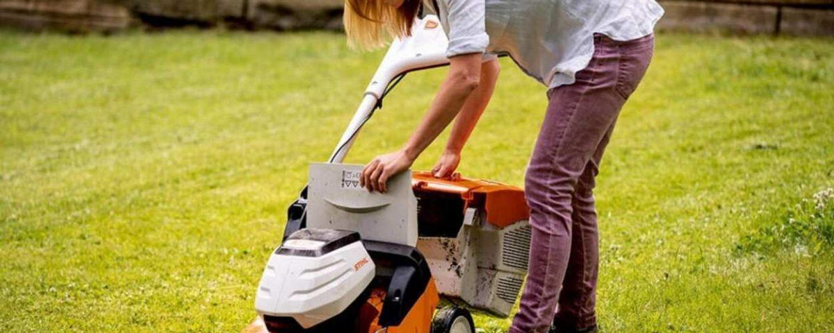 Como usar o cortador de grama