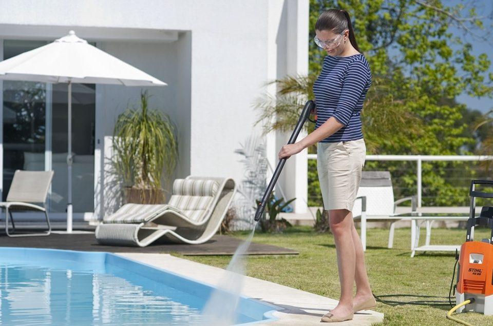 Lavadora de Alta Pressão Pode Limpar o Seu Quintal